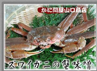 ズワイガニの蟹味噌